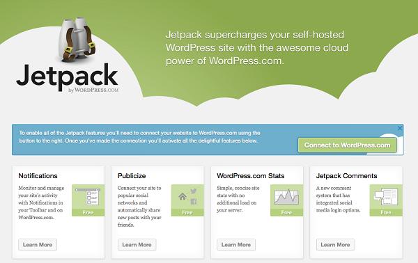 Jetpack Publicize screenshot used for social media optimization