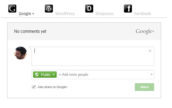 social comments plugin screenshot